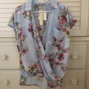 Kut From The Kloth Floral Wrap Blouse